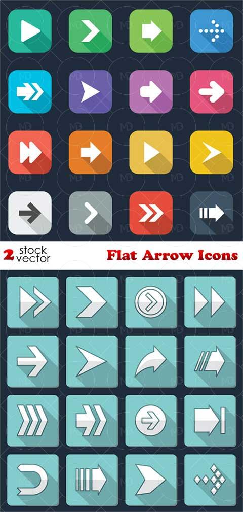 Flat Arrow Icons دانلود وکتور آیکون های فلش Flat Arrow Icons