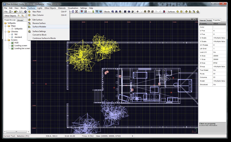Flow Architect Studio 3D 7 نرم افزار طراحی سه بعدی پلان های معماری Flow Architect Studio 3D 1 8 4