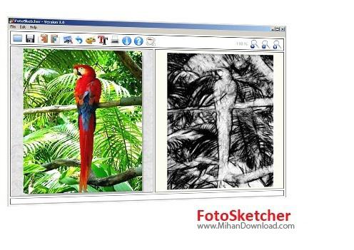 FotoSketcher1 نرم افزار تبديل عکس به نقاشی FotoSketcher 2 75