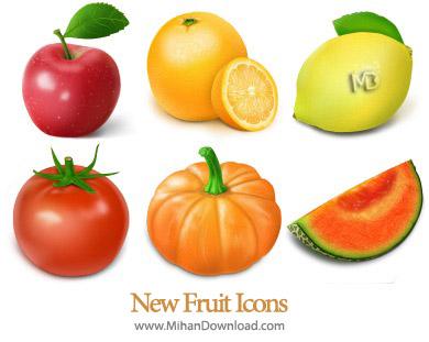 Fruit and Vegetable Icons دانلود مجموعه آیکون های میوه جات سری دوم Fruit Icon