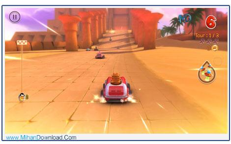 Garfield Kart 3 دانلود بازی ریسینگ گارفلید Garfield Kart