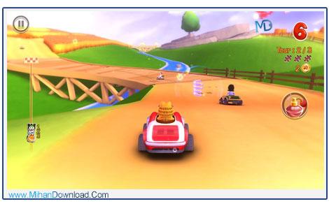 Garfield Kart 4 دانلود بازی ریسینگ گارفلید Garfield Kart