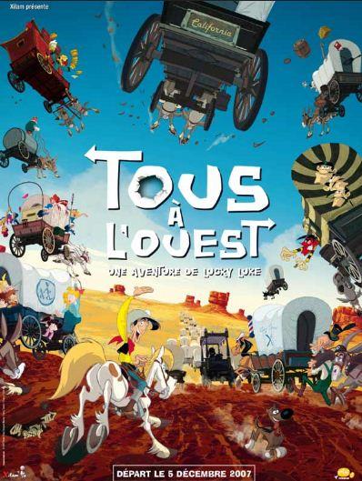 Go West A Lucky Luke Adventure 2007 دانلود انیمیشن لوک خوش شانس پیش به سوی غرب