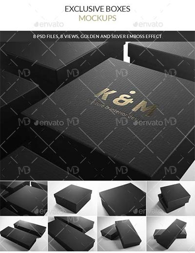 GraphicRiver Exclusive Boxes دانلود ماک آپ کارتن گرافیک ریور