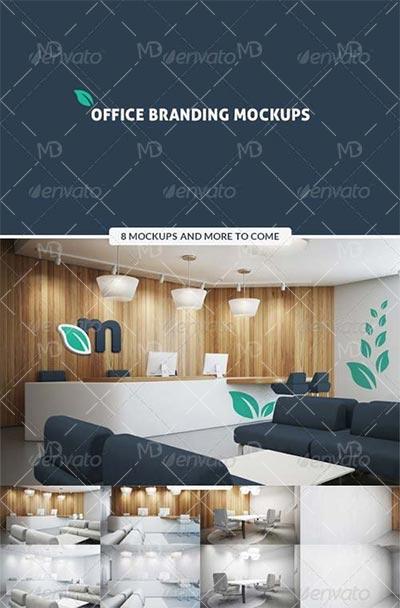 GraphicRiver Office Branding Mockups دانلود ماک آپ های اداری گرافیک ریور