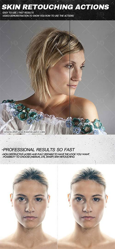 GraphicRiver Skin Retouching Actions دانلود اکشن روتوش تصویر GraphicRiver Skin Retouching