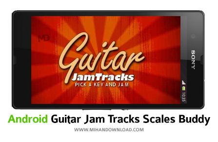Guitar Jam Tracks Scales Buddy نرم افزار شبیه ساز گیتار Guitar Jam برای آندروید