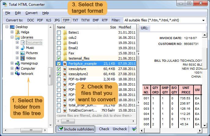 HTML  دانلود Total HTML Converter 4.1.60 نرم افزار تبدیل فایل های HTML