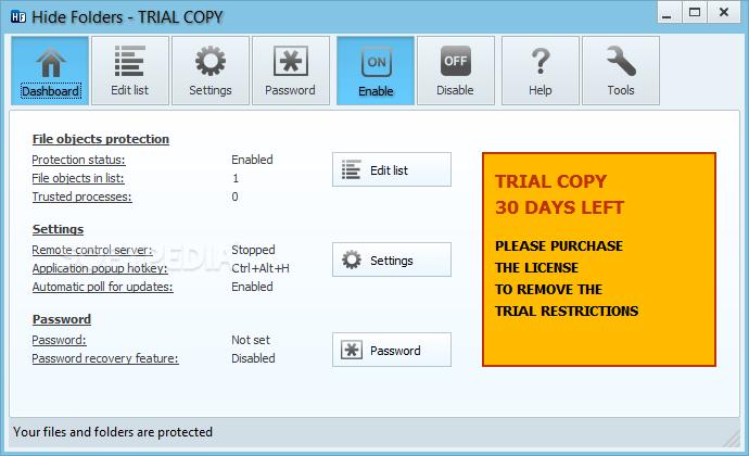 Hide Folders 1 دانلود نرم افزار مخفی سازی فولدرها Hide Folders 5.4 Build 5.4.2.1155