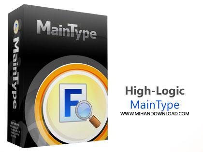 High Logic MainType دانلود نرم افزار مدیریت فونت ها در ویندوز High Logic MainType Professional Edition v8.0.0 Build 1125 x64