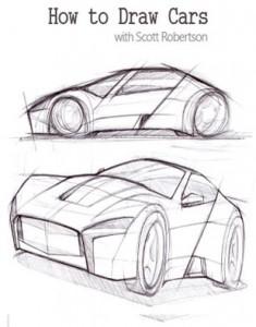 How to Draw Cars 235x300 فیلم آموزش طراحی ماشین با مداد
