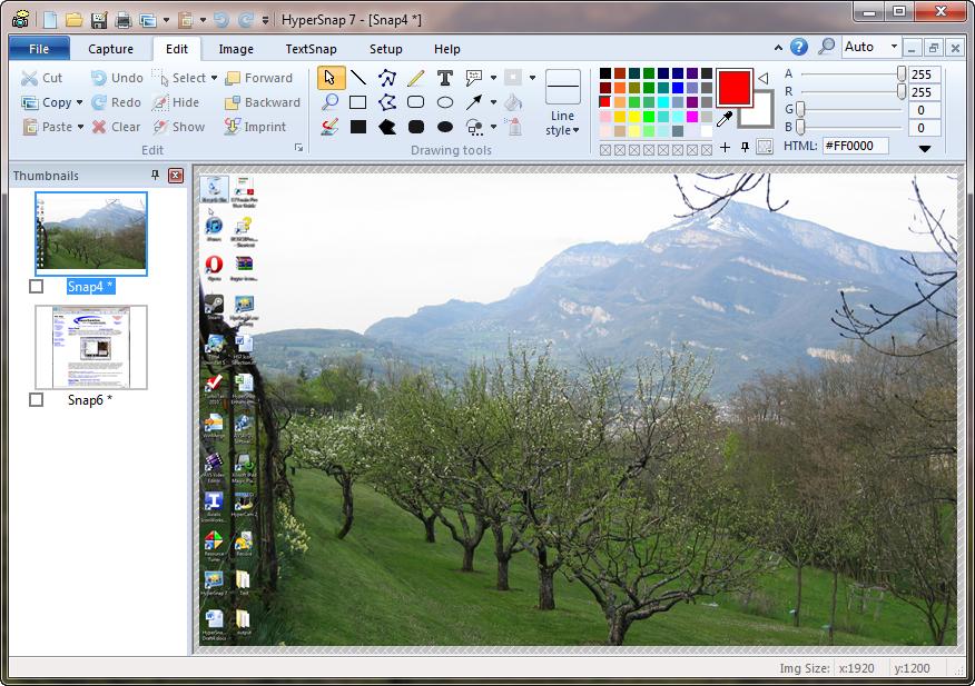 HyperSnap7 دانلود HyperSnap 7.29.02 نرم افزار عکس برداری از صفحه نمایش