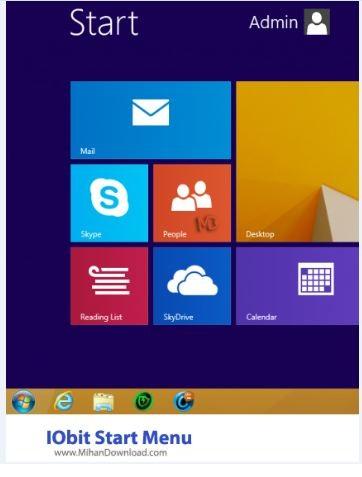 IObit Start Menu دانلود منوی استارت برای ویندوز 8.1  IObit StartMenu 8 v2.4.0.2