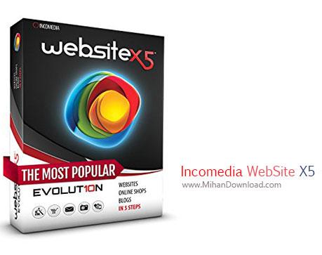 Incomedia WebSite دانلود نرم افزار طراحی وب سایت Incomedia WebSite X5 Professional v14.0.1.1