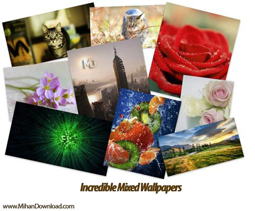 Incredible Mixed Wallpapers Set 605 md دانلود مجموعه تصاویر طبیعت Incredible Mixed Wallpapers