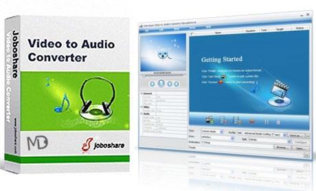 Joboshare.Video .to .Audio . دانلود نرم افزار تبدیل فایل تصویری به صوتی Joboshare Video to Audio Converter 3.4.1