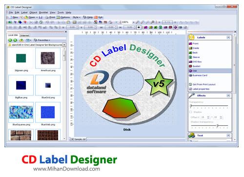 Label Designer نرم افزار طراحي ليبل سي دي CD Label Designer 5 3 Build 594 Final