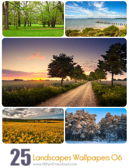 Landscapes Wallpapers 06 دانلود مجموعه عکس مناظر Landscapes Wallpapers Set 06