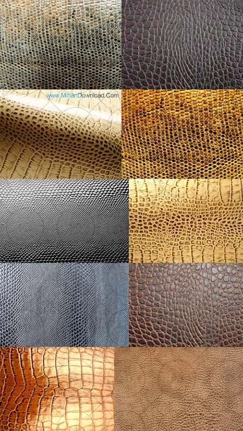 Leather Textures دانلود تکسچر پوست مار Leather Textures