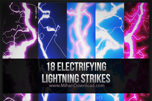 Lightning Strikes Brushes دانلود Lightning Strikes Brushes براش رعد و برق