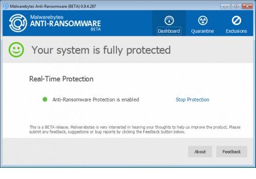 Malwarebytes Anti Ransomware دانلود نرم افزار حذف ویروس های باجافزار Malwarebytes Anti Ransomware 0.9.14.361 Beta