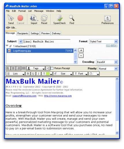 Maxprog MaxBulk Mailer دانلود نرم افزار ارسال ایمیل گروهی Maxprog MaxBulk Mailer Pro 8.4