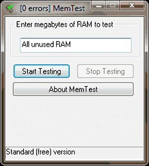 MemTest دانلود نرم افزار تست سلامت رم کامپیوتر