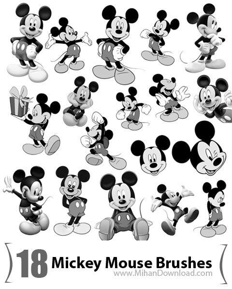 Mickey Mouse Brushes دانلود Mickey Mouse Brushes براش میکی موس
