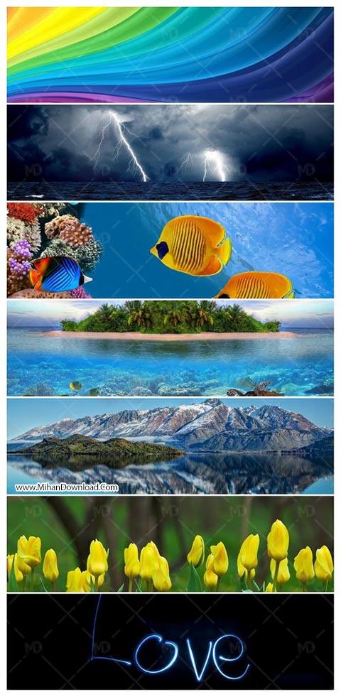 Mixed Panoramics Wallpaper Pack 24 دانلود 107 عکس های پس زمینه