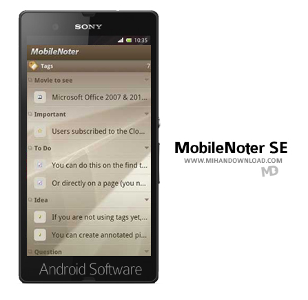 MobileNoter SE v4.4 نرم افزار یادداشت برداری MobileNoter SE برای آندروید