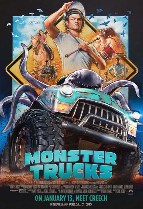 Monster Trucks 2016 Poster 4 دانلود انیمیشن Monster Trucks 2016 کامیون های هیولا