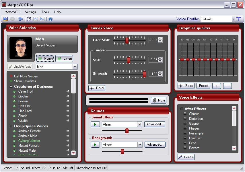 MorphVOXProScreenShot نرم افزار تغییر صدا