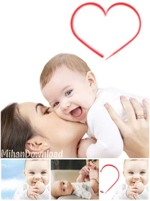 Mother And Child دانلود عکس با کيفيت مادر و نوزاد Stock Photos Mother And Child