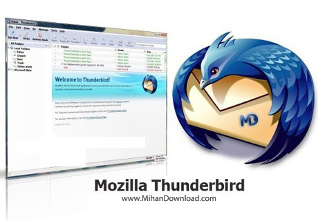 MozillaThunderbird 24 1 0 دانلود نرم افزار مدیریت ایمیل Mozilla Thunderbird 52.6.0