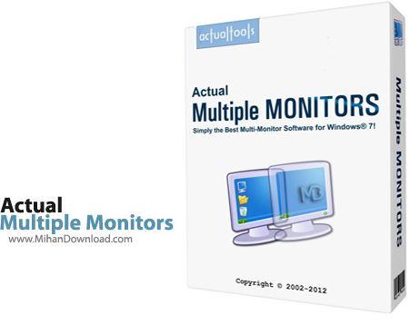 Multiple Monitors نرم افزار استفاده از چند مانیتور در ویندوز Actual Multiple Monitors 8 1 2 Final
