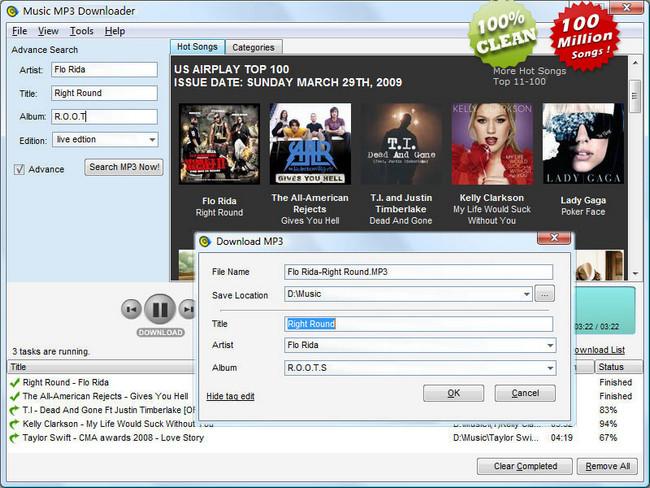 Music MP3 Downloader نرم افزار جستجوی فایل های mp3 در اینترنت Music MP3 Downloader v5 5 8 6