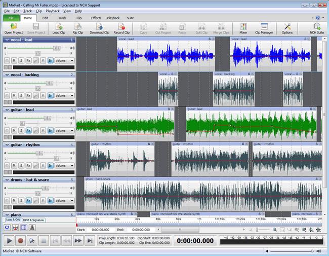 NCH MixPad Masters Edition دانلود نرمافزار میکس و مستر آهنگ