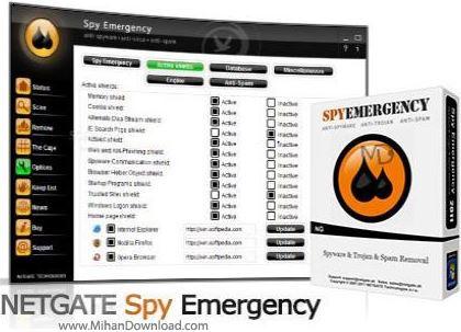 NETGATE نرم افزار محافظت در برابر برنامه های جاسوسی NETGATE Spy Emergency 13 0 305 0