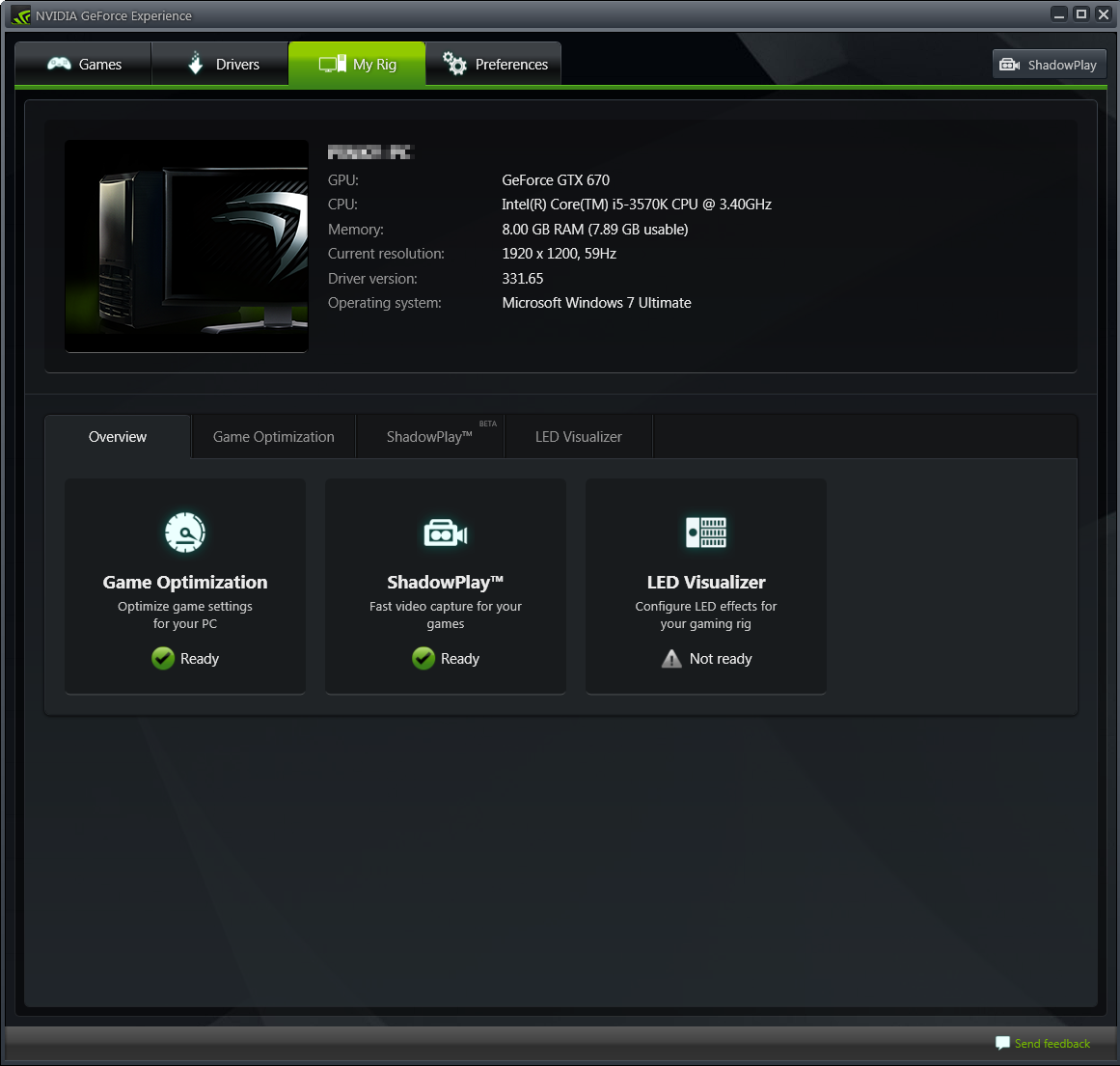 NVIDIA GeForce Experience 3 دانلود نرم افزار بهینه سازی بازی ها NVIDIA GeForce Experience