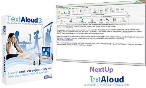 NextUp TextAloud 3.0.58 دانلود نرم افزار تبدیل متن به گفتار NextUp TextAloud 3 0 64