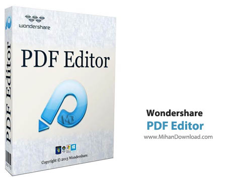 PDF Editor نرم افزار ویرایش فایل های پی دی اف Wondershare PDF Editor 3 6 3 6