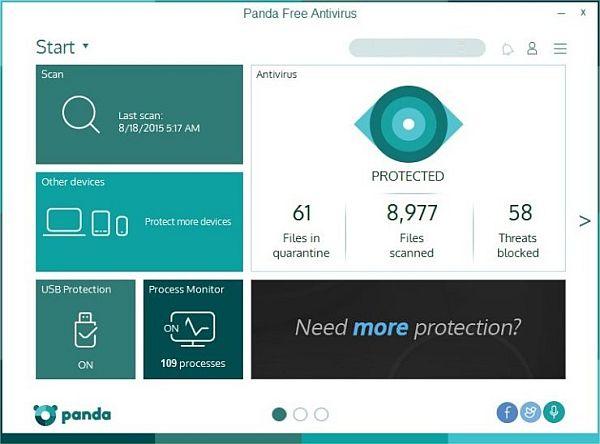 Panda Free Antivirus دانلود نرم افزار آنتی ویروس پاندا Panda Free Antivirus 2016 16.1.2
