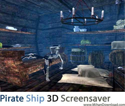 Pirate Ship 3D Screensaver1 دانلود اسکرین سیور کشتی دزدان دریایی Pirate Ship 3D Screensaver