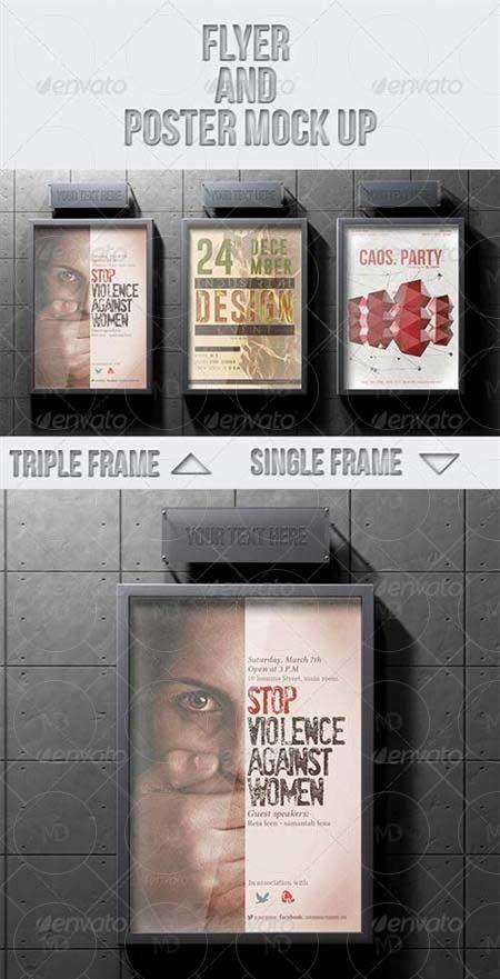 Poster Mock up دانلود موک آپ پوستر های تبلیغاتی GraphicRiver Flyer and Poster