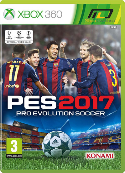 Pro Evolution Soccer 2017 PAL XBOX360 COMPLEX دانلود بازی Pro Evolution Soccer 2017 برای XBOX360