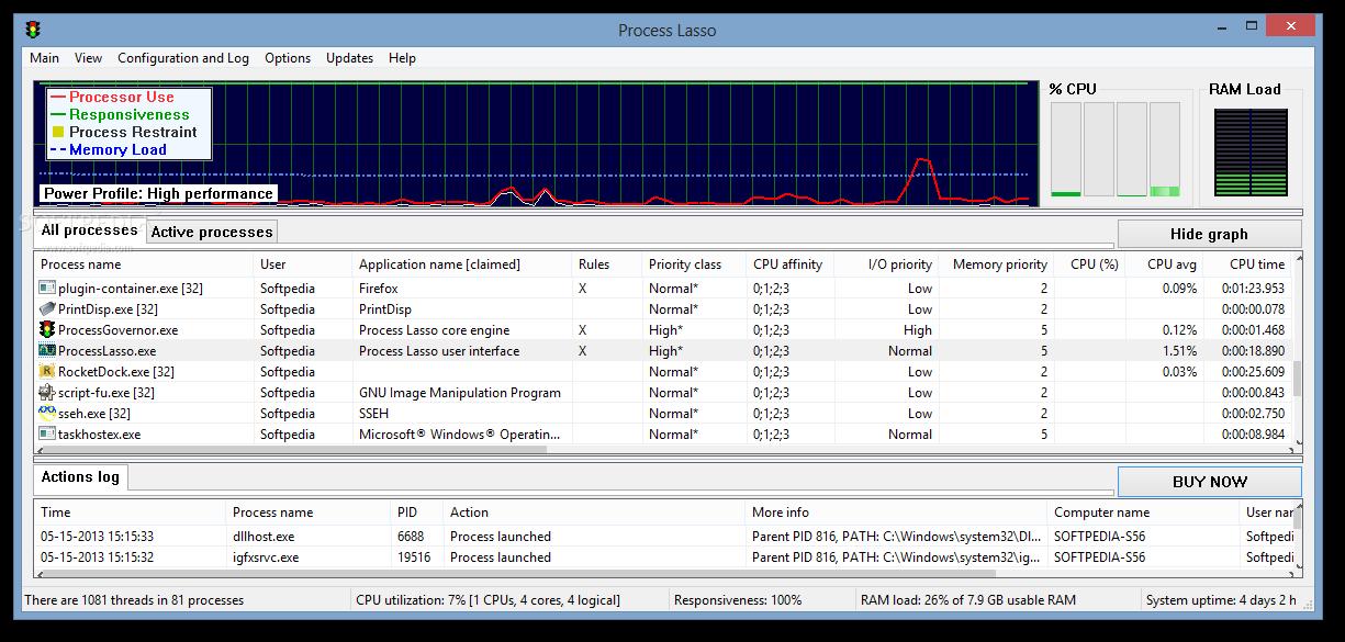 Process Lasso 2 دانلود Process Lasso Pro 6.8.0.8 نرم افزار بهینه سازی ویندوز