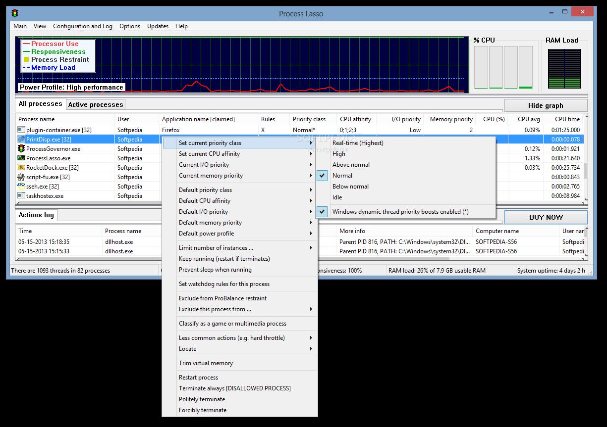Process Lasso 3 دانلود Process Lasso Pro 6.8.0.8 نرم افزار بهینه سازی ویندوز