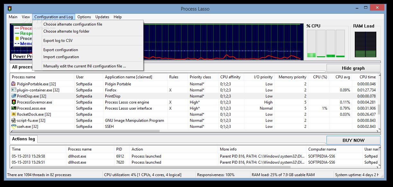 Process Lasso 8 دانلود Process Lasso Pro 6.8.0.8 نرم افزار بهینه سازی ویندوز