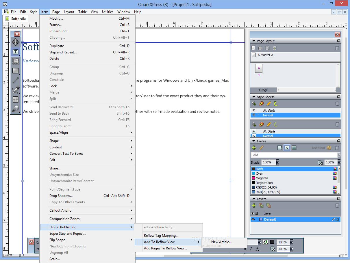 QuarkXPress 5 نرم افزار طراحی گرافیکی QuarkXPress 10 1