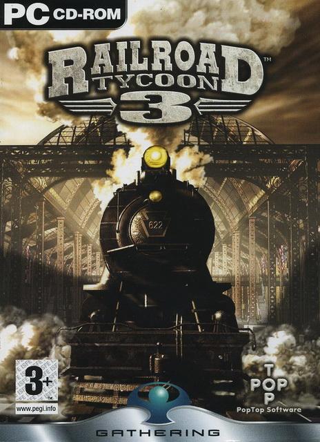 Railroad Tycoon 3 PC cover دانلود بازی شبیه سازی صنعت راه آهن برای کامپیوتر